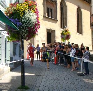 Olympische Distanz Tübingen - der Lauf war gespickt mit Kurven und Gefälle