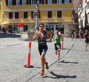 Olympische Distanz Tübingen - auch die Zuschauer suchten den Schatten
